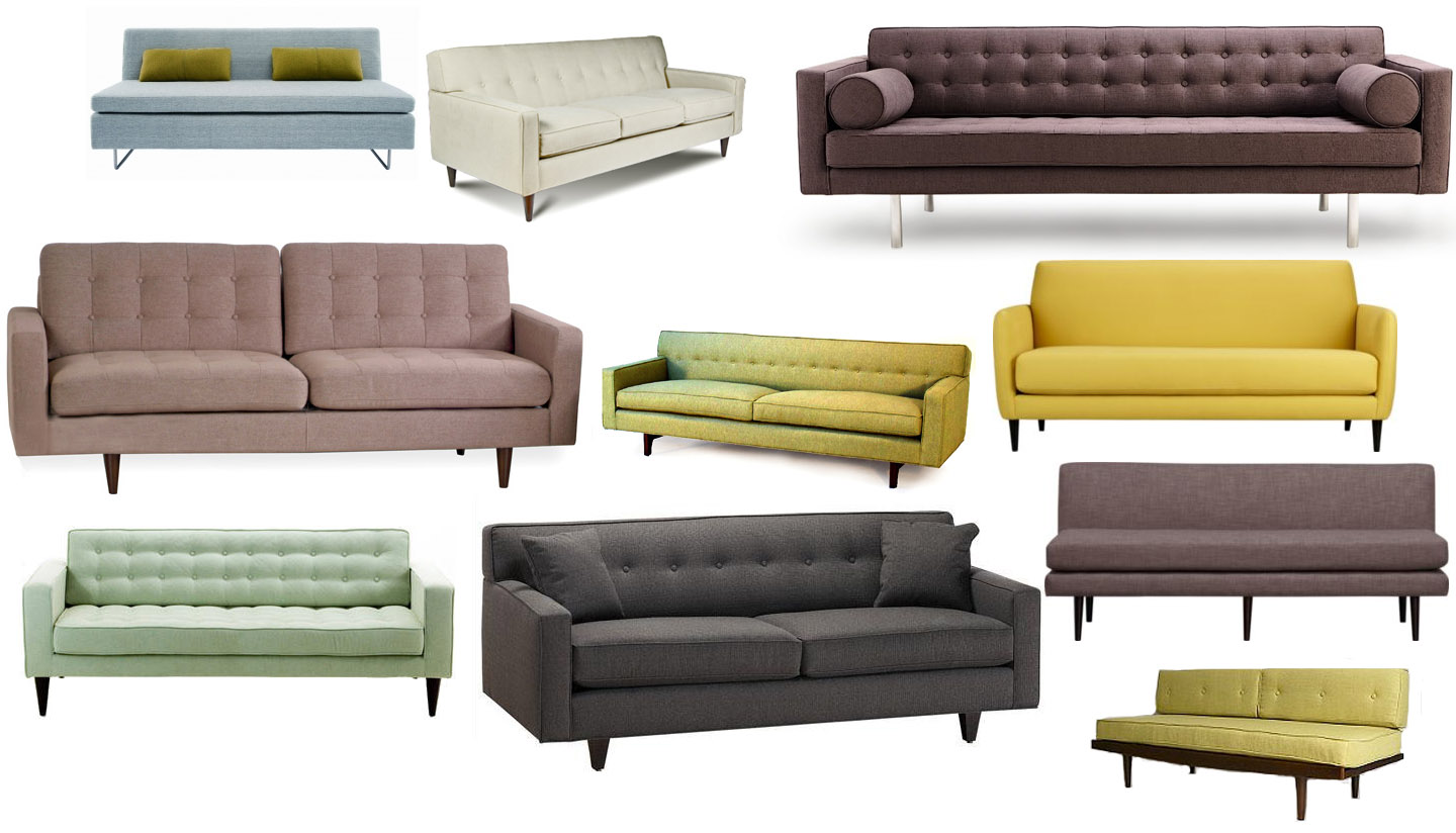 Sofas Styles help! we need a new sofa — mid century style, please.